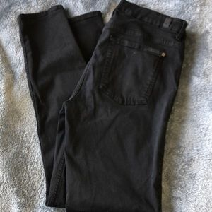 7 FOR ALL MANKIND BLACK HIGH WASTE SKINNY SIZE 31